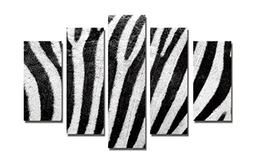 LB 5 pcs Modern Canvas Painting Wall Art Home Decoration Print On Canvas Giclee Artwork For Wall Decor,Zebra Stripes ,No Frame